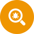 pest control bug and magnifier