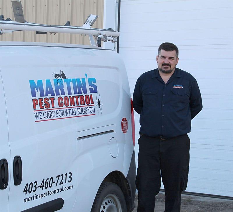 Matrin's Pest Control owner Bill Martin