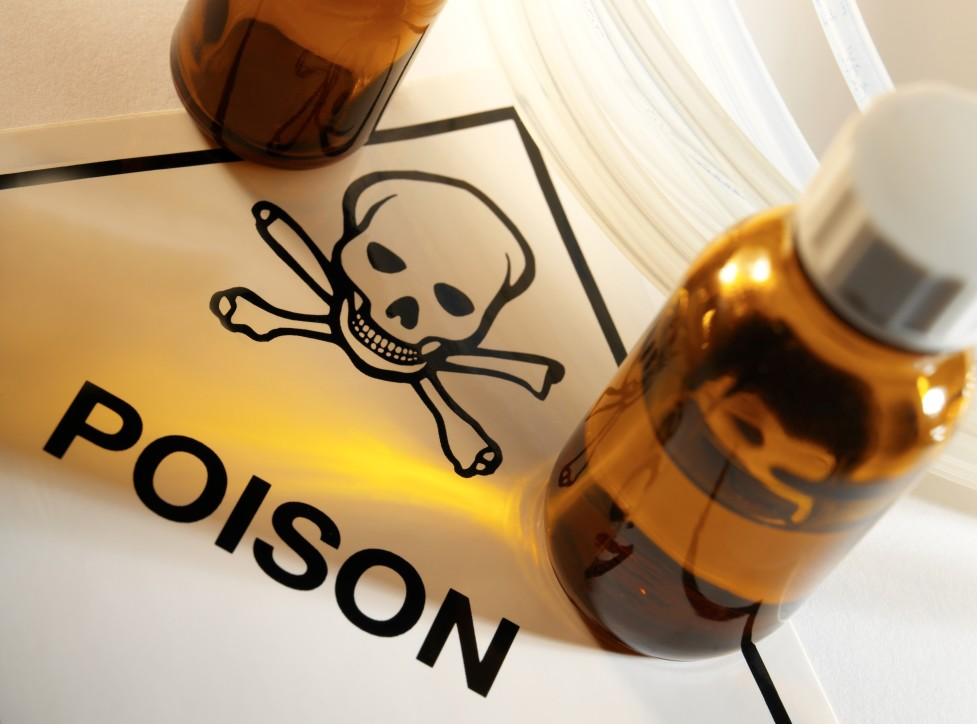 poison bottle, storing pesticides